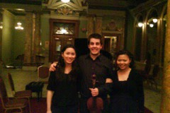"2009.03.05 Chamber Recital, Mozart Kegelstatt Trio, Bartok ""Contrast"" at Anderson Violinist, Violist/ Jaime Gorgojo Clarinetist/ Irene Chen Pianist/ Ya-Wen Wang"